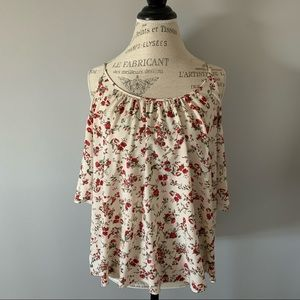 French Connection Floral Open Shoulder Blouse (S)